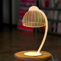 Lampe a poser dome led studio cheha normal Modern Desk, Modern Table, Lampe 3d, Wooden Brackets, Plexiglass, Lumiere Led, Luminaire Design, Led Lamp, Modern Lighting