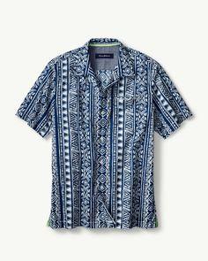 464c85b5ced Main Image for Takoda Tiles Stretch-Cotton Camp Shirt Groomsmen