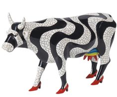 Paraiso Tropical (Museum Edition) on Shop CowParade Cow Parade, Bison, Cows Mooing, Skin Paint, Mosaic Animals, Cow Art, Colorful Animals, Yard Art, Pet Birds