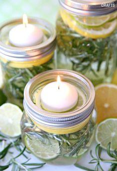 DIY Mason Jar Luminaries: Fresh Herbs & Fruit - Consumer Crafts