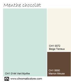 Cette palette de teintes discrètes et gourmandes révèlera une atmosphère lumineuse d'une grande sérénité. www.chromaticstore.com #déco #couleur #bleumenthe Color Balance, Colors, Inspiration, Sea Green Colour, Brown Bathroom, Green Paintings, Mint Color, Biblical Inspiration, Colour