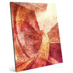 Click Wall Art 'Red Spiral' Graphic Art on Plaque Size: