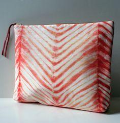 PORTFOLIO  hand dyed silk hemp pouch in sun by katrinreifeiss, $65.00