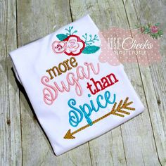 Embroidery design 5x7 More sugar than spice by SoCuteAppliques