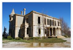 ... Donna Maria Sursock Villa, Saoufar, Lebanon ... Photo by Joe Lahdou.  The Villa was built by Donna Maria's her husband Alfred in 1909. The Villa looks a little like a small fairy tale castle and is interesting because of its decorative elements in cast cement, a novelty at the time.  The Villa was used extensively all summers up to 1975 and unfortunately, as with the hotel, it was severely damaged and looted by the various armies and militias roaming the area at the time of the civil…