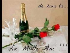 YouTube Wine Bottle Images, Champagne Images, Flower Power, Red Roses, Calendar, Happy Birthday, Romantic, Youtube, Crafts