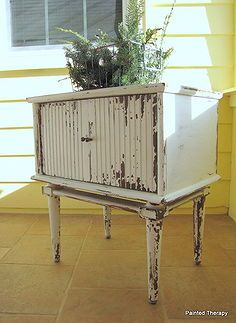 meet gezebel the side table, painted furniture, shabby chic   thinking of  this  for  the one in  DR.