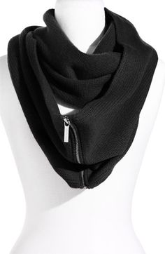 Zipper Infinity Scarf- Michael Kors Don't think it would be too hard to make something like this.