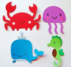 Cut Outs for aquarium, beach, or boating page.