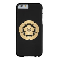 Oda Mon samurai clan brushed gold on black Barely There iPhone 6 Case
