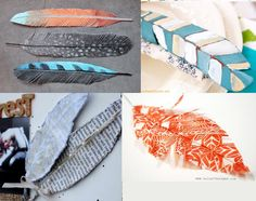 Trending: Feathers (Part 3) - DIY Feathers! E Craft, Crafty Craft, Diy Craft Projects, Diy Crafts, Scrapbook Paper Crafts, Scrapbooking, Scrapbook Embellishments, Arts And Crafts, Feathers