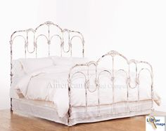 elena queen bed slumber pinterest queen beds and queens - Vintage Iron Bed Frames