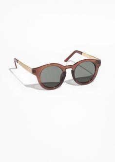 Other Stories   Round Sunglasses Accessoires, Lunettes, Mode, Femmes À  Lunettes De 75c24a18114c