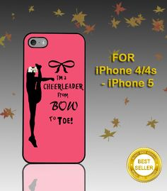 Cheers Cheerleader Bow To Toe - Photo on Hard Cover - For iPhone Case ( Select An Option ) on Etsy, $15.19