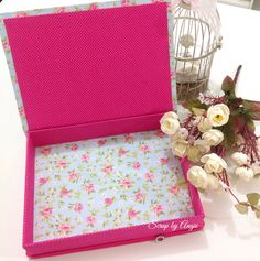 Caixa Francesa em Cartonagem com tecido. Scrap by Angie
