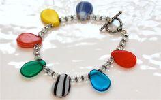 Antique Mali Wedding Trade Glass Bead Crystal Bracelet