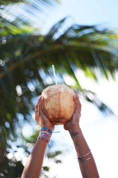 Coconutwater for hot summer days #sommer #sonne #kokosnuss