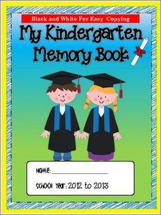 Kindergarten Memory Book {End of School Year}