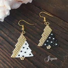 Triple Hoop Earrings in Gold fill, large gold hoop earrings, hammered hoop earrings, delicate hoop earrings, 2 inch hoop earrings - Fine Jewelry Ideas - beaded hoop earrings diy - Beaded Earrings Patterns, Seed Bead Earrings, Simple Earrings, Boho Earrings, Beading Patterns, Beaded Jewelry, Diamond Earrings, Stud Earrings, Fine Jewelry