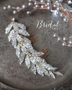 Bridal Headpiece Bridal Wedding Hair Decorative Comb by EnzeBridal