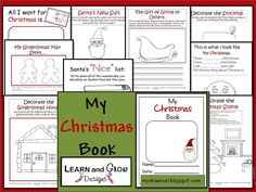 """My Christmas Book"" - 10 pages of holiday fun for kids of all ages created by Learn and Grow Designs."