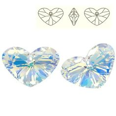 6260 Crazy 4 U Heart 27mm Crystal AB  Dimensions: 27,0 mm Colour: Crystal AB 1 package = 1 piece