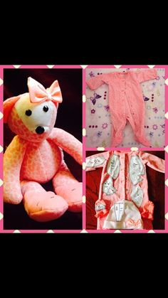 This is a complete PDF to make memory bears that from a childs pajamas or a loved one article of clothing. This size will make a bear from a 3