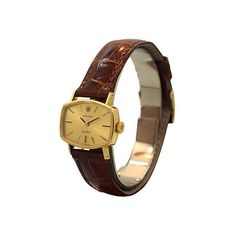Pre-Owned 1970s Rolex Orchid Ladies Ref. 2675-1 ($2,249) ❤ liked on Polyvore featuring jewelry, watches, vintage gold watches, rolex watches, preowned watches, gold jewelry and gold wristwatches