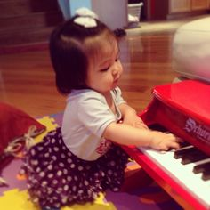 Red Piano Purple Skirt