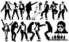 Michael Jackson Silhouette Vector