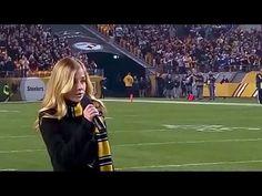 Jackie Evancho - National Anthem - Sunday Night Football - 2015 - YouTube
