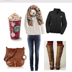 Christmas style<3...except the drink