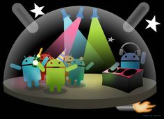 I like this celebrating  Android picture :)