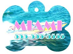 Monogram Personalized Dog Pet ID Tag Name Miami Vice Inspired Pet Accessory Supply Dog Lover Gift 1 by MainStreetDesignsUSA on Etsy https://www.etsy.com/listing/479104324/monogram-personalized-dog-pet-id-tag