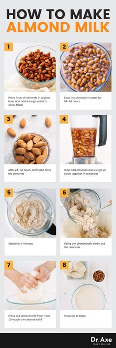 How to make almond milk - Dr. Axe http://www.draxe.com #health #holistic #natural
