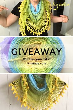I'm having a little giveaway on my blog to celebrate my latest free crochet pattern. To enter, visit wilmade.com for the details