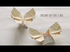 Learn how to make Origami Butterfly Box. (Author: Leyla Torres) Origami Butterfly Box : What we need: Printed paper ( or ) Craft paper How to do ? This beautiful butterfly box is made with Box Origami, Origami Letter, Origami Envelope, Origami And Kirigami, Origami Butterfly, Origami Folding, How To Make Origami, Useful Origami, Decor Crafts