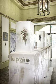 La Prairie Pop-up Product Launch | Ice Crystal Collection, Harrods by Millington Associates