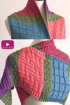 Learn how to make this Easy Color Block Scarf Knitting Pattern. It's a perfect project for experienced beginners who enjoy knitting flat on straight needles. I love changing textures and colors, which this scarf allows us to do frequently. Baby Hat Knitting Pattern, Easy Knitting Patterns, Shawl Patterns, Loom Knitting, Knitting Stitches, Knitting Projects, Crochet Patterns, Beginner Knitting, Finger Knitting