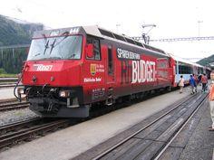 """Glacier Express - Rhätische Bahn (RhB), Ge 4/4 III 646 """"Sta. Maria Val Mustair"""""""