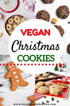 The are the best vegan christmas cookies recipes for kids all pulled into one post! Easy and healthy, some are even gluten free. Find gingerbread, sugar cookies, peanut butter blossoms, and more! Chocolate Christmas Cookies, Vegan Christmas Cookies, Christmas Recipes, Healthy Kids Snacks For School, Kid Snacks, Healthy Vegan Desserts, Vegan Food, Vegan Recipes, Cookie Recipes For Kids