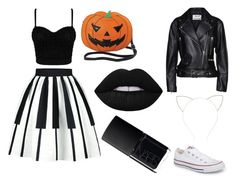 """Sexy Hallowen costume"" by diana-gheatau on Polyvore featuring Acne Studios, Converse, Sleepyville Critters, Forever 21 and NARS Cosmetics"