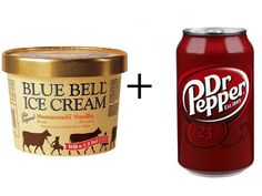 For those who miss Dr Pepper Hour at #Baylor... // : How to beat the Texas Summer heat:  1 scoop of Bluebell vanilla ice cream in a cup + 8 oz. of Dr. Pepper = Texas Soda Float.  Enjoy.