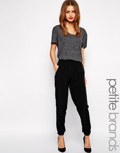 Enlarge New Look Petite Wrap Front Jogger