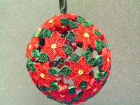 Quilled 3d Chritmas ornaments | quilled christmas ornaments and quilled eggs gregg makes all of