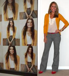 Love this color combo - and I even have gray pants and a mustard sweater