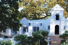 """The picturesque """"Petit Chateau"""" also has a chapel that is dressed in white and is encircled by rose gardens with fountains all within a magical private setting. This creates for the perfect Paarl Wedding Venue. South African Homes, Wedding Venues, Wedding Photos, Entry Stairs, Wedding Make Up, Beautiful Beaches, Wedding Season, Wedding Planning, Wedding Photography"""