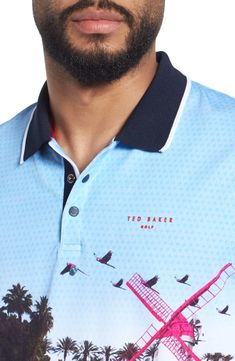 Ted Baker London Placement Trim Fit Golf Polo | Nordstrom Womens Golf Polo, Polo Design, Golf Day, Club Face, Strength Workout, Yoga Benefits, Play Golf, Golf Tips, Rib Knit