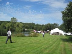 Beautiful Lawns leading down to the marquee