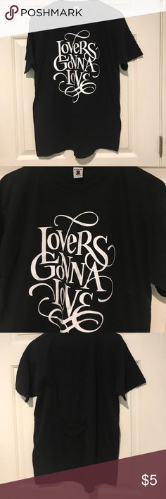 Lovers Gonna Love T-Shirt Super Hit Black T-Shirt // Lovers Gonna Love // Medium // 100% Cotton new condition Super Hit Tops Tees - Short Sleeve